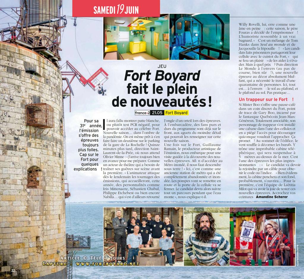 Nouvelles épreuves et aventures de Fort Boyard 2021 - Page 13 Fortbo16