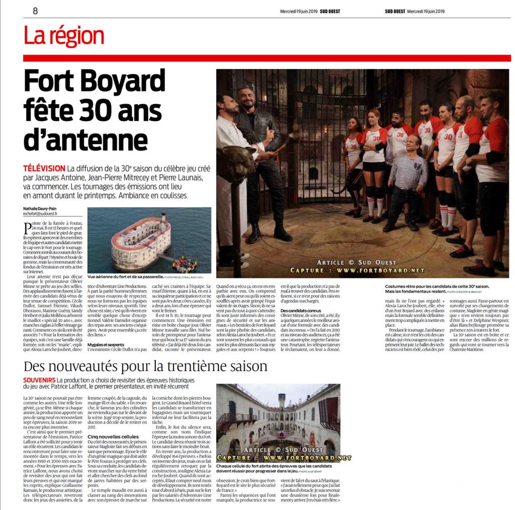 Revue de presse : Articles et reportages qui parlent de Fort Boyard 2019 Image82