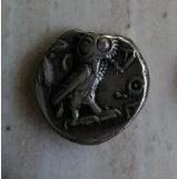Duda Tetradracma Atenas, Attica.  Revers10