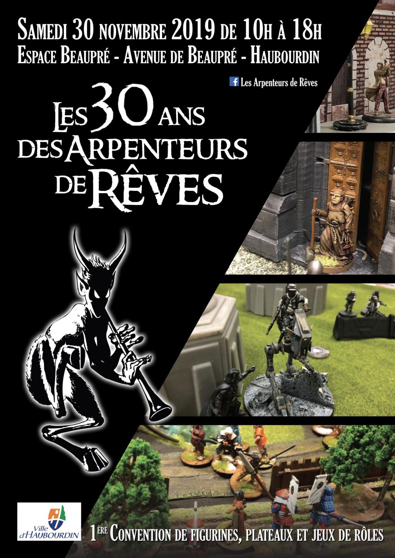 Convention des 30 ans des Arpenteurs de Rêves - Samedi 30 novembre 2019 Affich13
