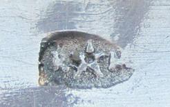 dessous de plat Verre Les Andelys et métal argenté Roux-Marquiand Captu340