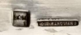 dessous de plat Verre Les Andelys et métal argenté Roux-Marquiand Captu341