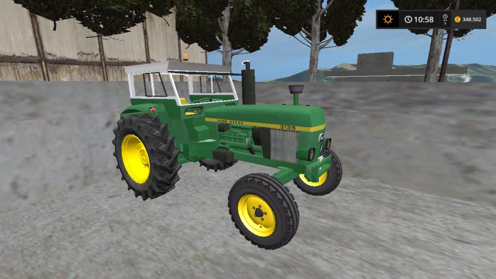 trattore gommato JohnDeere 3135 d'epoca Fsscre61