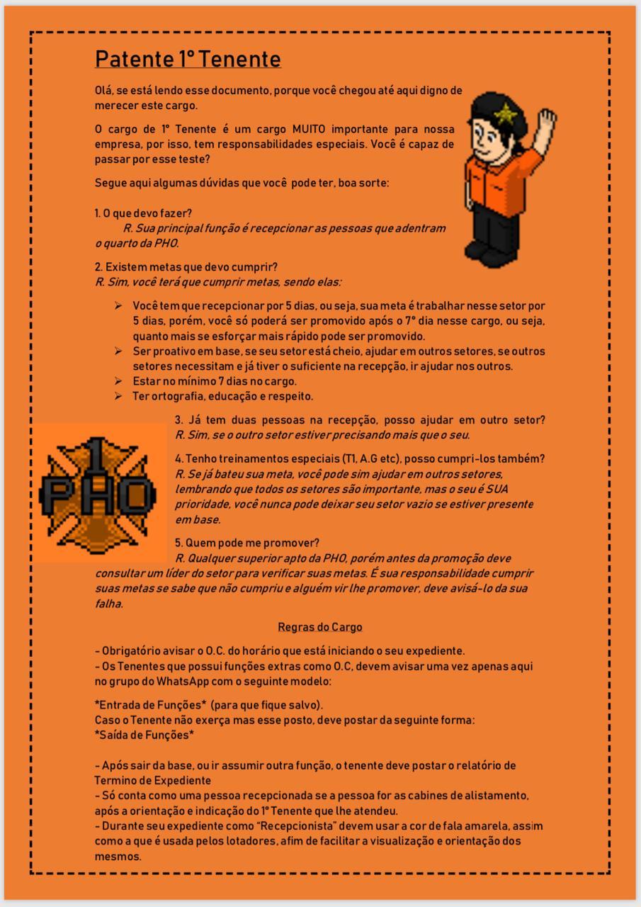 Orientações para 1° Tenente A12f0510