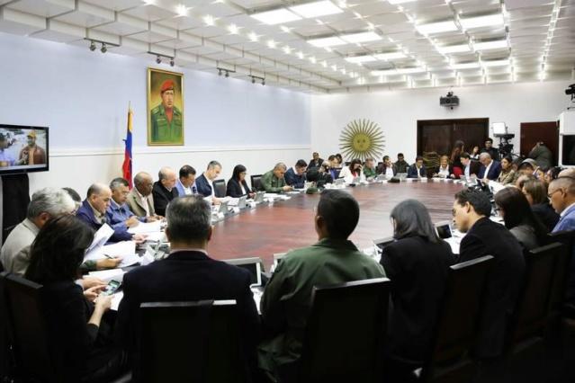 Reunión ministerial Palacio de Miraflores