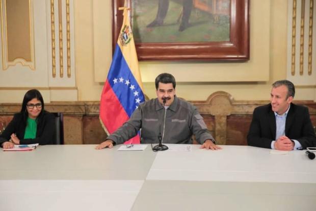 Nicolás Maduro, Delcy Rodríguez, Tareck El Aissami