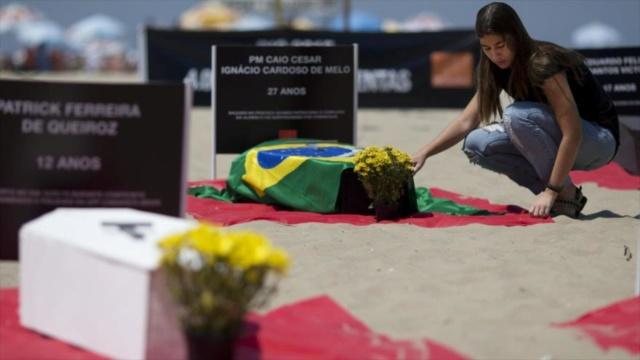Brasil bate récord de violencia: 175 homicidios por día y 7,2 por hora 02002410
