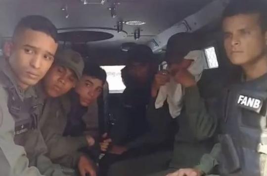 Guardias Nacionales que participaron en alzamiento