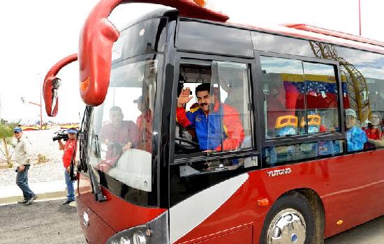 Nicolás Maduro chófer de bus youtong