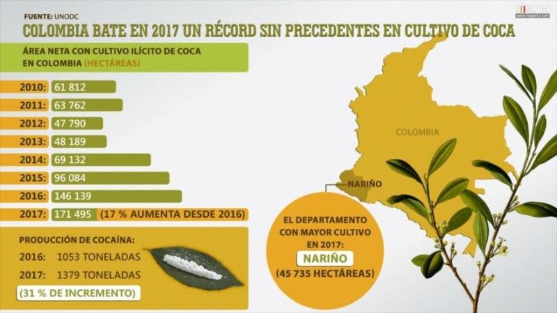 ONU denuncia que Colombia se convirtió en el primer país productor de cocaína y USA el consumidor 15211210