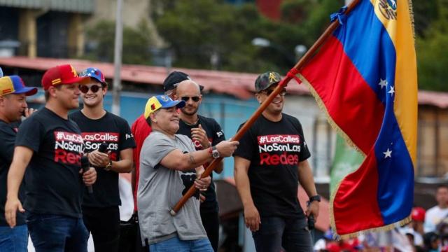 Maradona con Venezuela