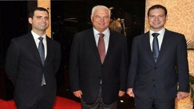 Ricardo Alberto y Luis Enrique Martinelli, hijos del expresidente de Panamá Ricardo Martinelli