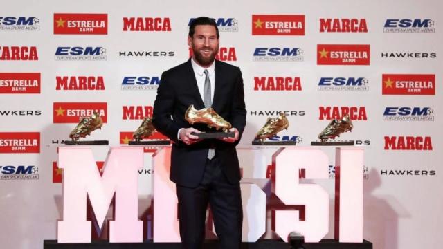 Messi logró la sexta Bota de Oro de su carrera