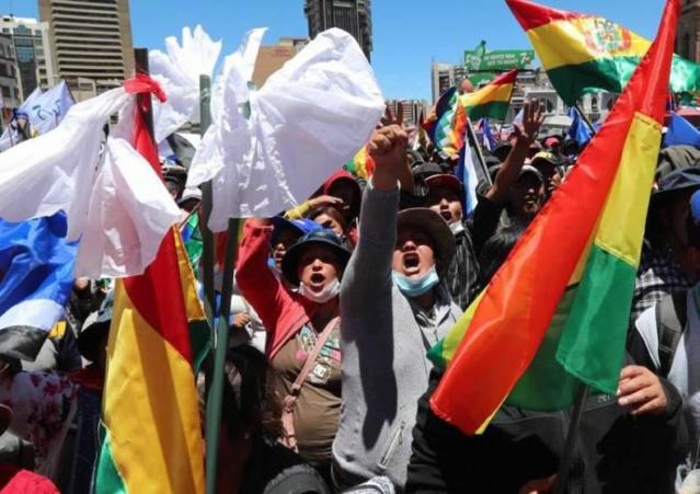 Resistencia del pueblo boliviano ante golpe de Estado