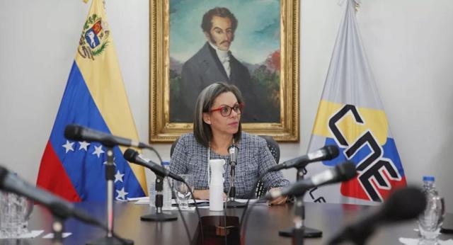 La presidenta del Consejo Nacional Electoral (CNE) de Venezuela, Indira Alfonzo