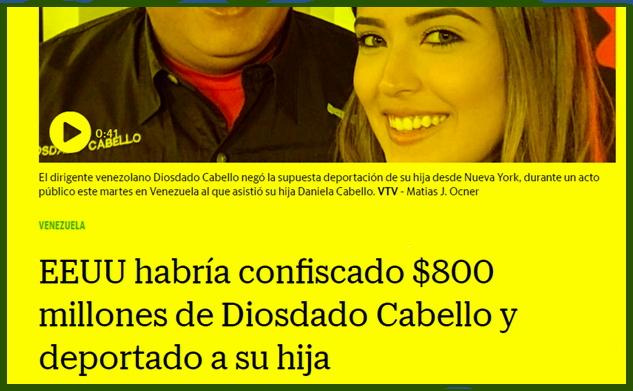 El Nuevo Herald de Miami inventó y montó noticia falsa sobre Diosdado Cabello y su hija Daniela 2018-022