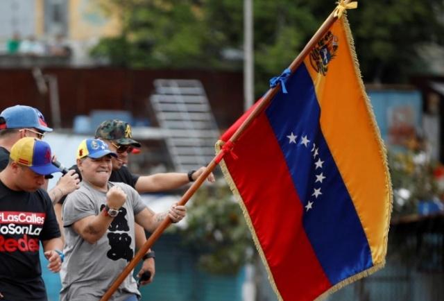 """Maradona felicita a Venezuela por su independencia: """"207 años después sigue en lucha revolucionaria"""" 2018-088"""