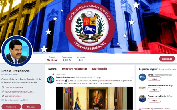 Twitter @PresidencialVen