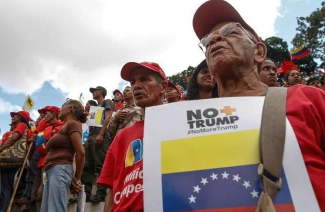 Venezolanos rechazan bloqueo de EEUU