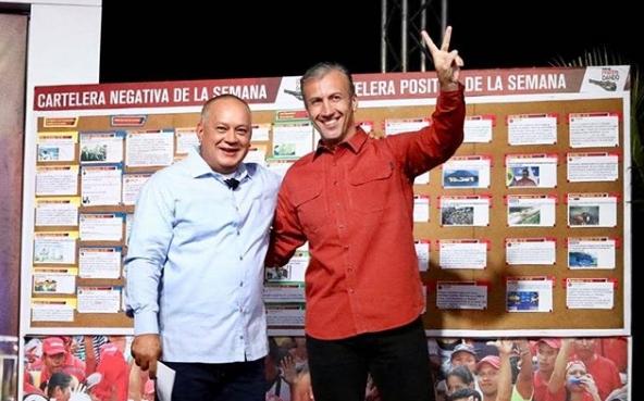 Tareck El Aissami y Diosdado Cabello
