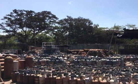 Totalmente destruida quedó la planta de gas de Ocumare del Tuy