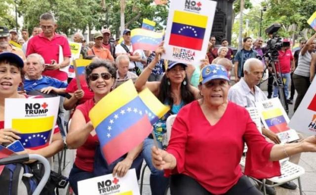 campaña No Más Trump en Venezuela