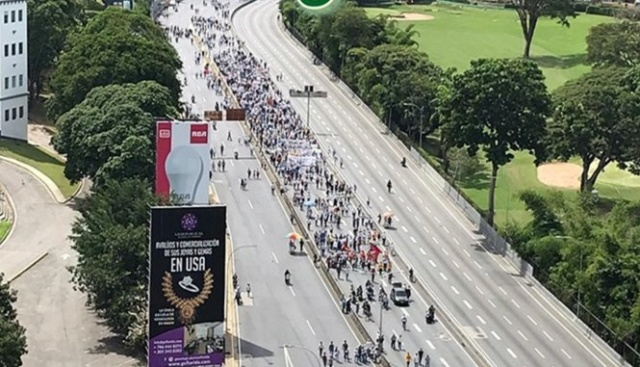 Fracasó marcha opositora del 16N