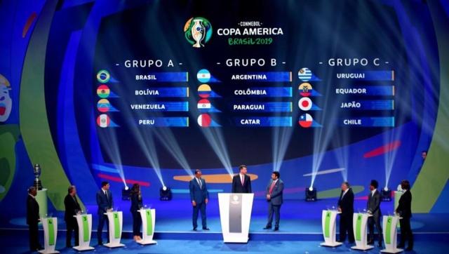 grupos Copa América Brasil 2019