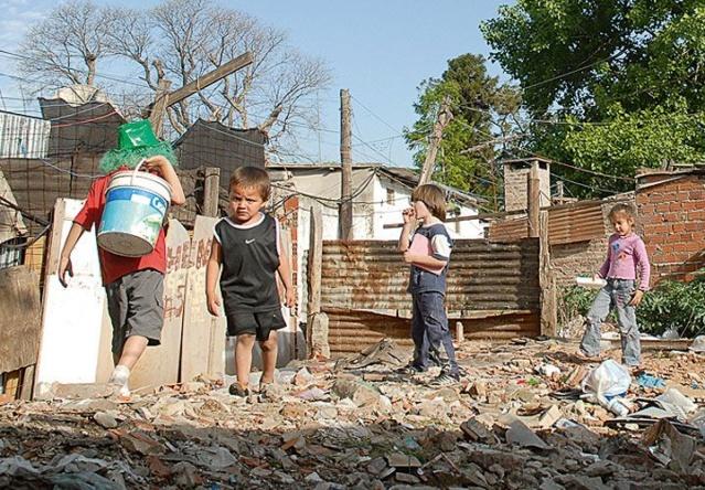 Niños pobres de Argentina