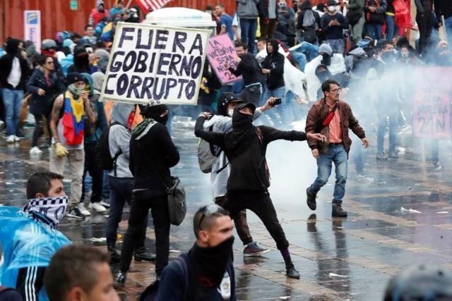 Manifestaciones contra Iván Duque en Colombia