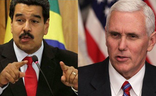 Mike Pence, Nicolás Maduro