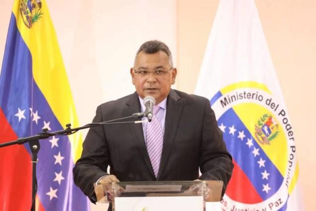 El ministro para Relaciones Interiores, Justicia y Paz, Néstor Reverol