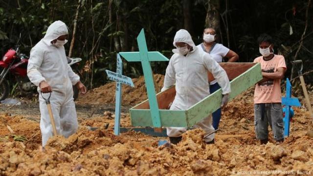 Muertos en Brasil por coronavirus