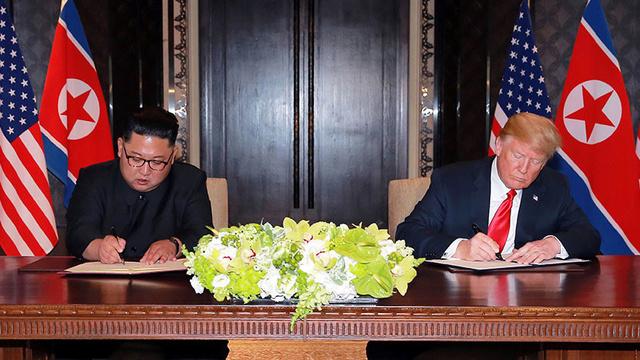 Kim Jong-un anuncia que su país y EE.UU. han acordado renunciar a las acciones militares hostiles 5b204910