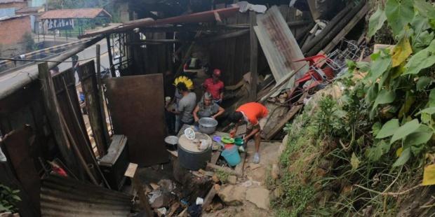 Refugio de venezolanos en Cocalombia