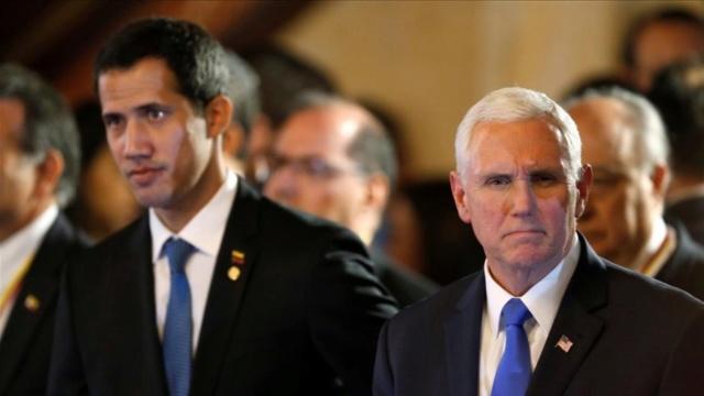 Guaidó y Pence