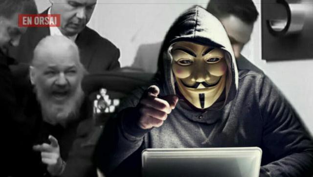 Anonymous sale en defensa de Assange
