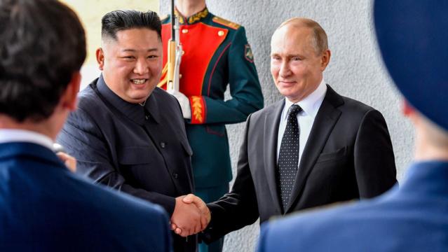 Kim Jong-un y Vladímir Putin