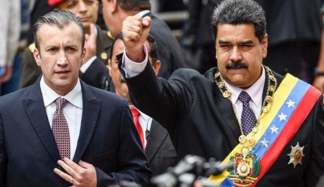 Tareck El Aissami y Nicolás Maduro