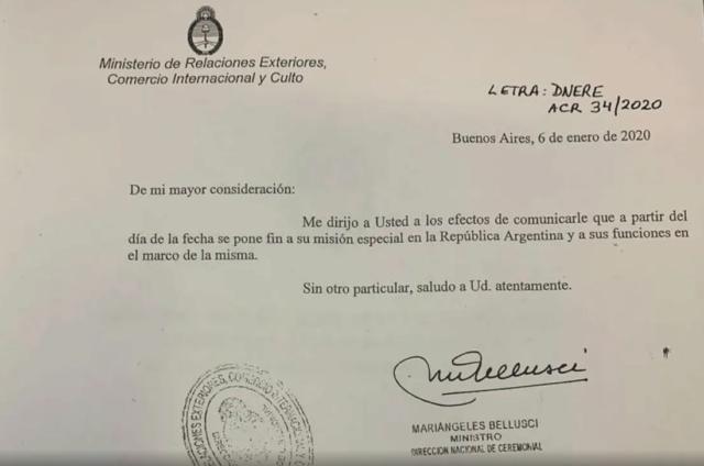La cesaron en la usurpación: Argentina quita credenciales diplomáticas a la representante de Guaidó 5e14d410