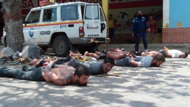 Mercenarios capturados en Venezuela