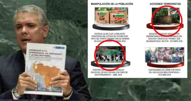 Iván Duque mostró pruebas falsas en la ONU contra Venezuela