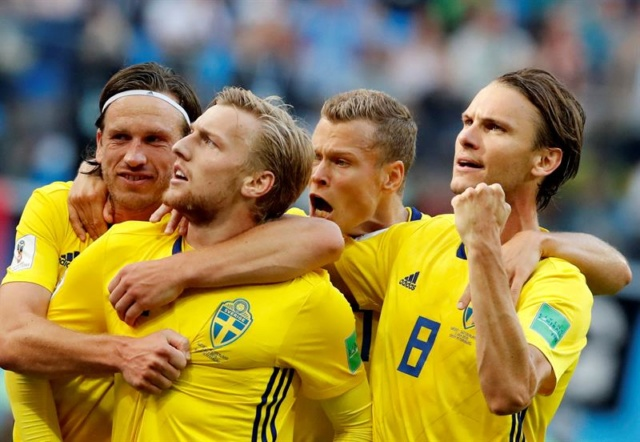 Suecia vence a Suiza por la mínima en un parejo encuentro y alcanza los cuartos de final 63666210