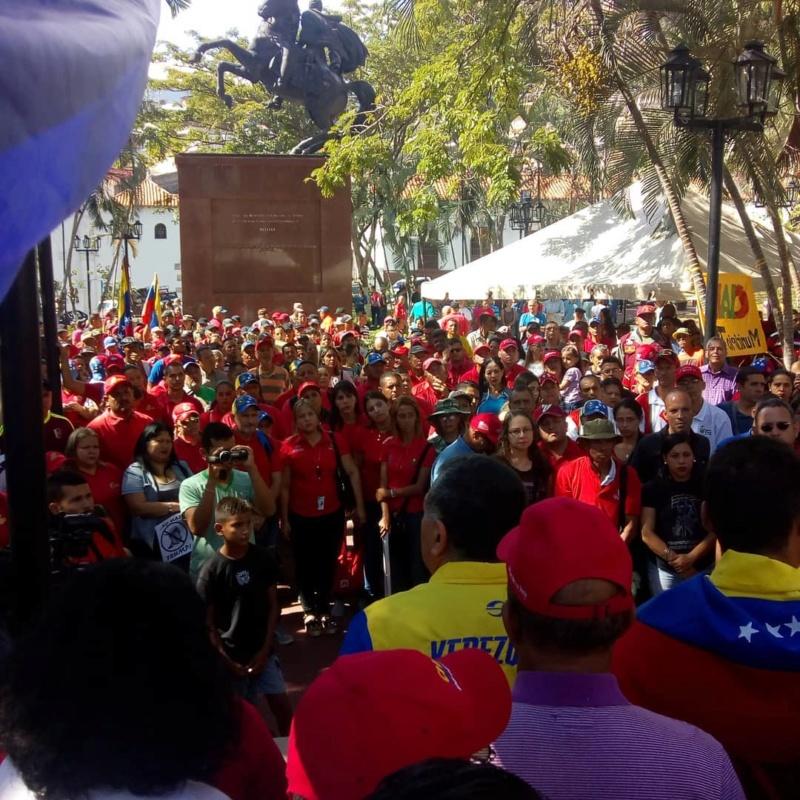(Fotos) Trujillanos salieron masivamente a firmar para rechazar bloqueo de EEUU contra Venezuela 67506410