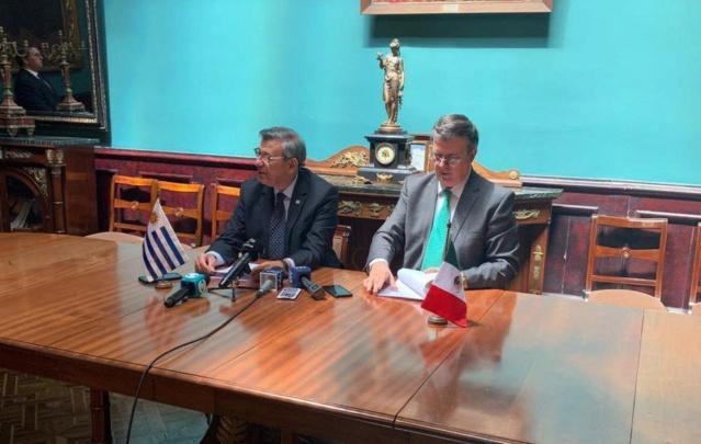 Cancilleres de Uruguay y México