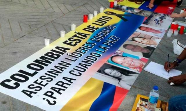 Asesinan a otro líder social el Colombia