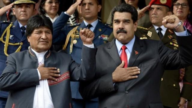 Morales y Maduro