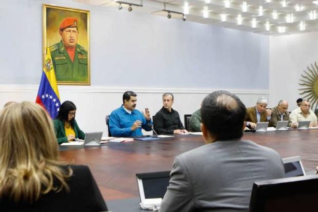 Nicolás Maduro en Miraflores