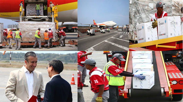 Llegan a Venezuela 65 toneladas de medicamentos e insumos provenientes de China