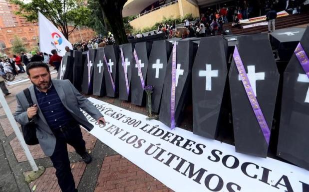 22 líderes sociales han sido asesinados en Colombia desde que Duque tomó la presidencia Asesin10